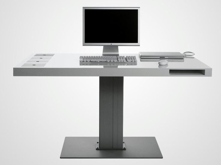 Office Design Contemporary Milk Wireless Desk For Small Space Made Of Iron And Wooden In Minimalist Computer Ideas