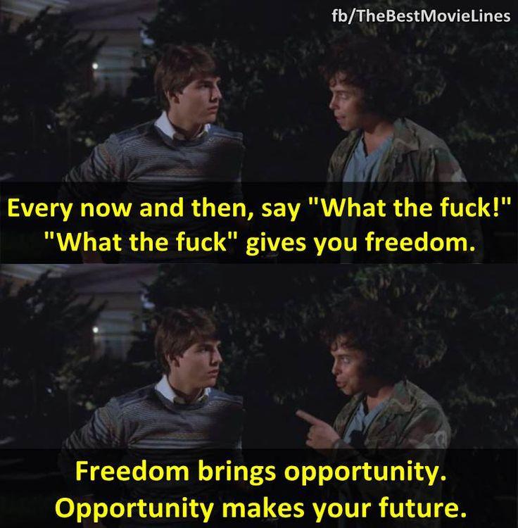 - Tom Cruise's Risky Business (1983).