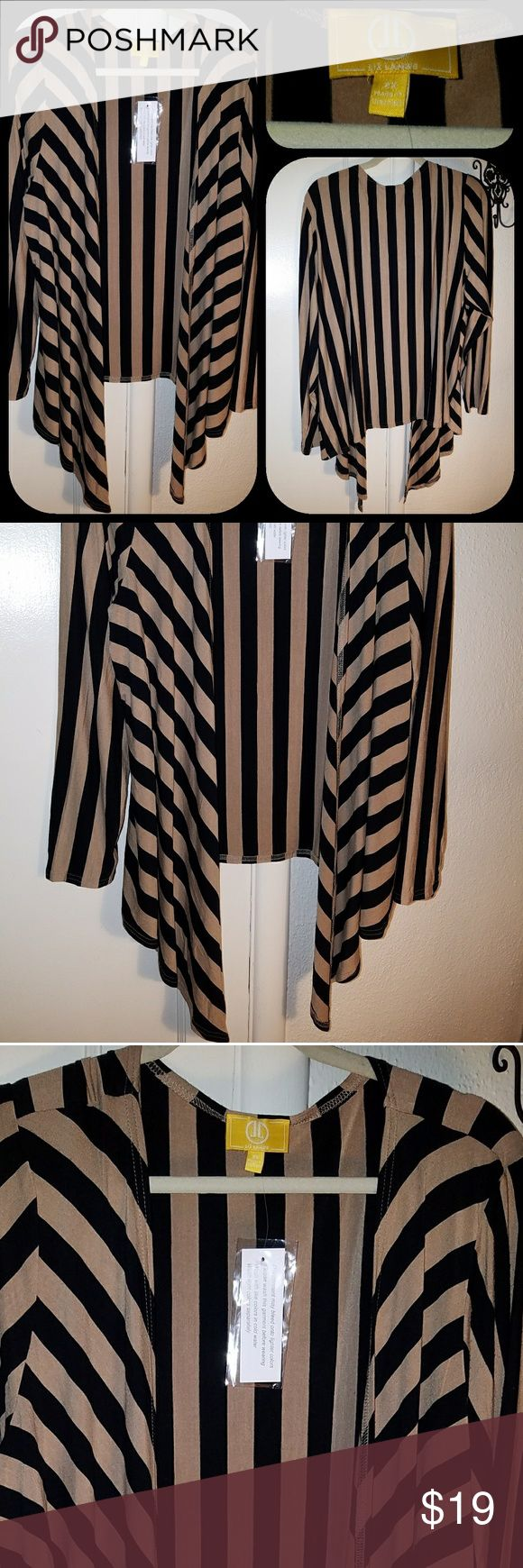 """Liz Lange Sexy Classy Drape Front Cardigan New Liz Lange Sexy, Classy Drape Front Cardigan in Nude and Black, Super Soft, Comfy, Stretchy perfect for work or play. I dislike the word Plus Size so I will continue saying my phrase """"Normal Size"""" and hope it goes viral.   I Love Bundling to Save you Money! All Items are From a Clean, Animal Friendly Home! Liz Lange Tops"""
