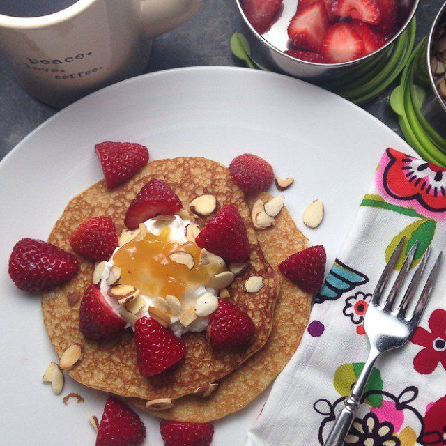 Pancakes don't need to be a morning indulgence! This is a recipe that you can feel good about!