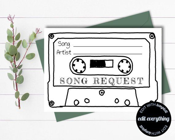 Wedding Song Request Cards Printable Song Request Cards Etsy Wedding Song Request Wedding Songs Song Request