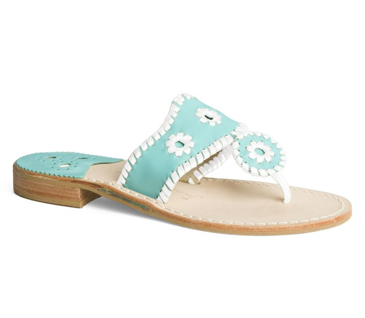 JackRogers Palm Beach in Caribbean Blue / White