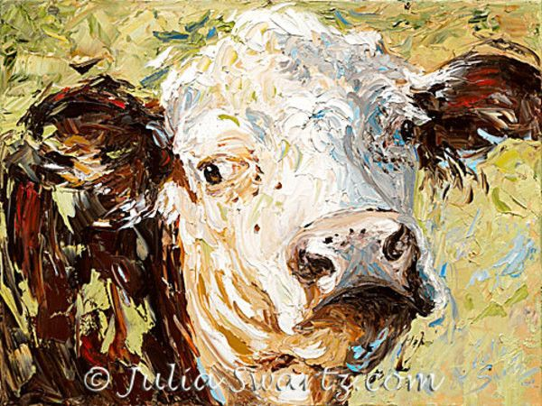 Hereford cow painting – Cow Art and More