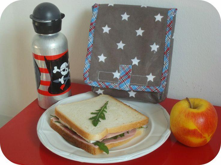 étui à sandwich en toile enduite et doublure isotherme. www.tadaam.fr