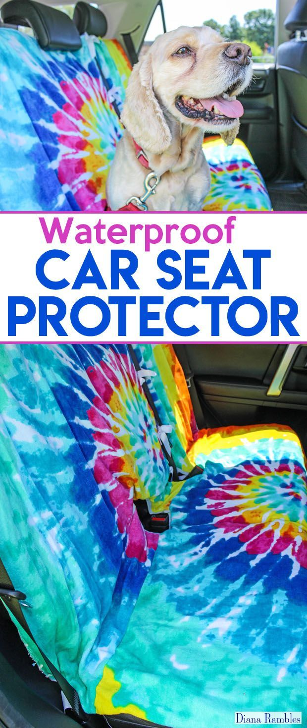 DIY Waterproof Removable Seat Covers - Need to protect your back seat from pets or kids? Make your own removable seat covers for your car. These are perfect to protect the seat from rain, dirt, or food and more! This simple sewing tutorial can be customized with fun prints. [ad] #RoadTripOil