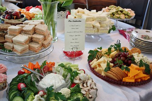 Bridal Shower Menu {Wedding Wednesday}. Tea sandwiches.