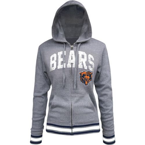 Chicago Bears Women's Grey Tri-Blend Hoodie by 5th & Ocean | Sports World Chicago $49.95  #ChicagoBears