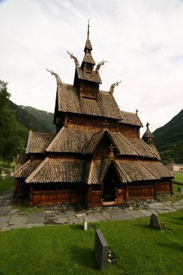 Borgund Stave Church, Lærdal, Norway - located in Borgund, Lærdal, Norway is the best preserved of Norway's 28 extant stave churches.