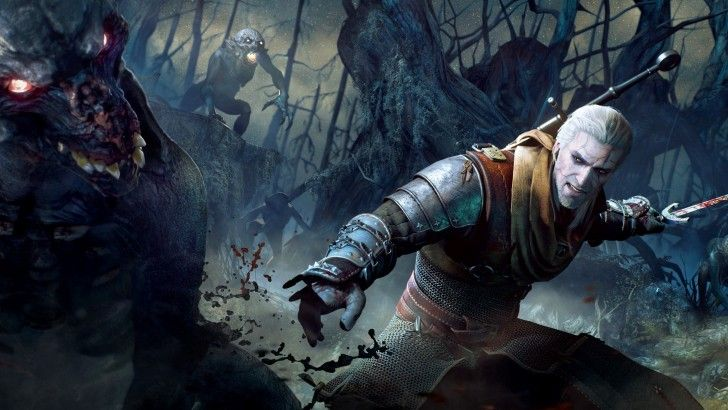 Download Geralt of Rivia Monster Fighting High Res 2880x1800