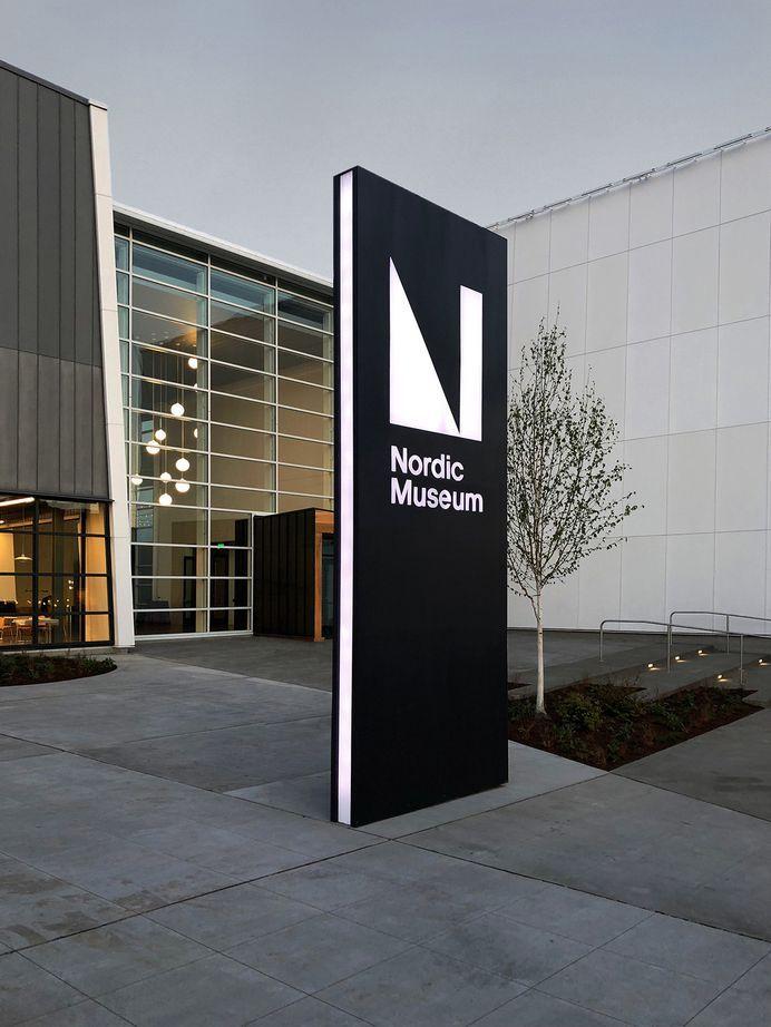 Best Signages Seattle Nordic Museum Rebrands Images On Designspiration Monument Signage Architectural Signage Exterior Signage