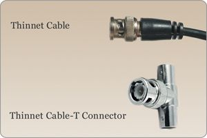 Thinnet cabling with BNC connectors