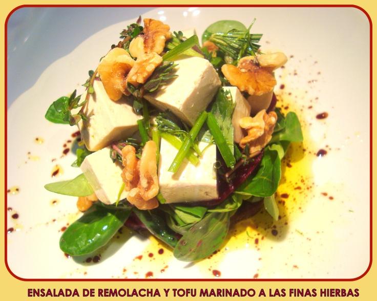 Ensalada de Remolacha y Tofu Marinado a las Finas Hierbas2