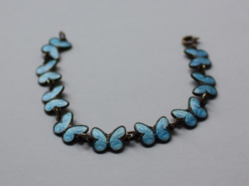 Arne-Nordlie-Vintage-Norwegian-Gilded-Sterling-Silver-Butterflies-Bracelet