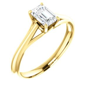 Cubic Zirconia Engagement Ring- The Holly (Customizable Radiant Cut Solitaire)