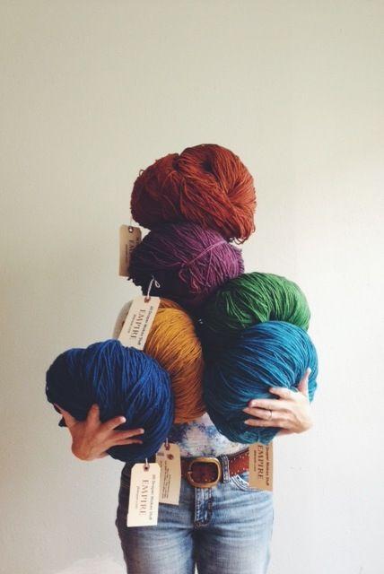 Empire yarn by Jill Draper Makes Stuff at Tolt Yarn and Wool in Carnation, WA.