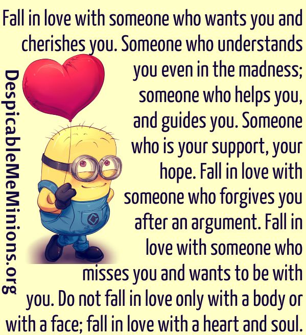 Fall in love with someone who wants you and cherishes you