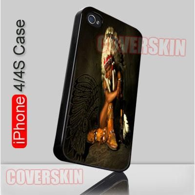Vintage Indian American Native iPhone 4 or 4S Case Cover