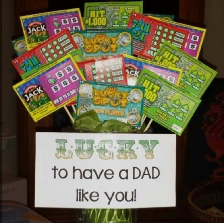 Father's Day Lottery Ticket Bouquet - 14 Fun, Grateful and Clever DIY Father's Day Gifts from Kids
