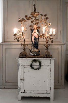 Best 25 home altar ideas on pinterest home altar for Altar wall decoration