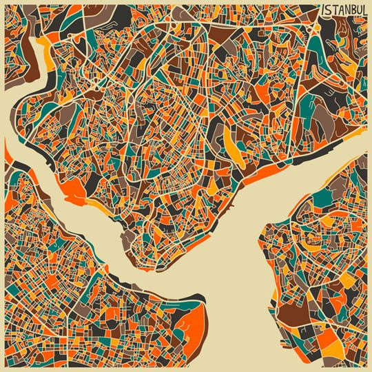 Geometric Abstract City Maps by Jazzberry Blue
