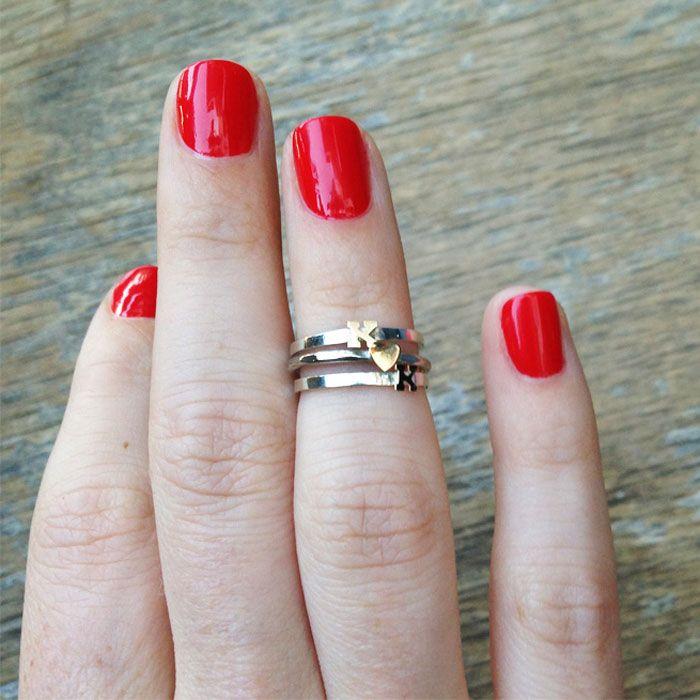Custom Initial Knuckle Rings