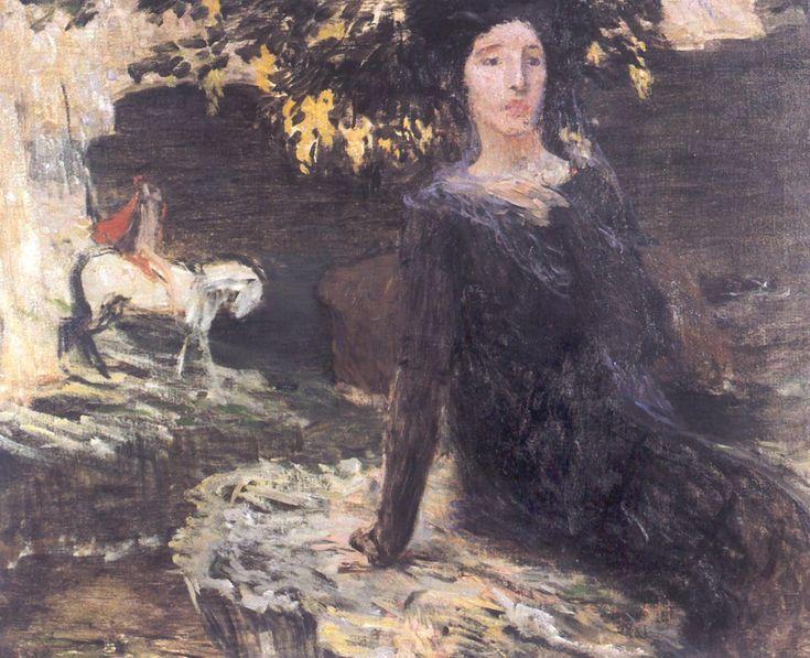 Jan Preisler Zena a jezdec u Cerného jezera 1903