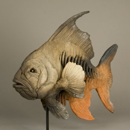 Eric  Zambeaux - angel fish: Art New Eric, Fish Art, Art Pottery Clay, Ceramic Art, Art Fish, Angel Fish, Art Ceramics, Clay Fish