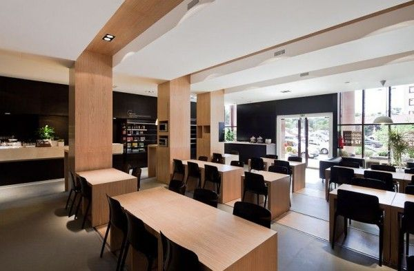 Nice simple modern restaurant interior by adoc architects