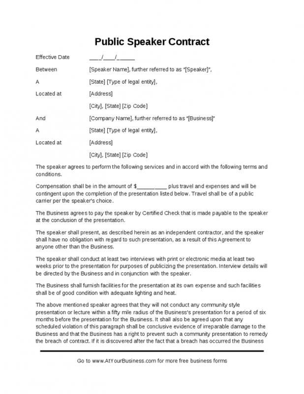 Graphic Design Contracts Template