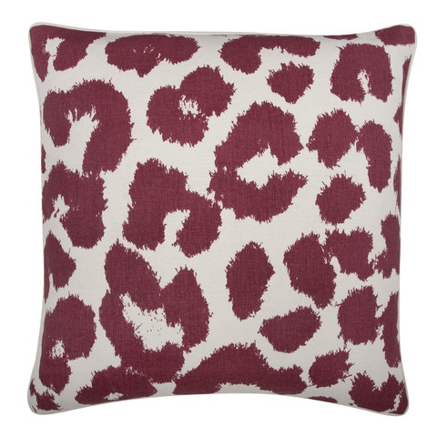 Leopard Pillow in Ruby design by Thomas Paul: Leopards Pillows, House Design, Thomas Paul, Feathers Pillows, Paul Leopards, Home Interiors Design, Leopards Prints, Throw Pillows, Design Home