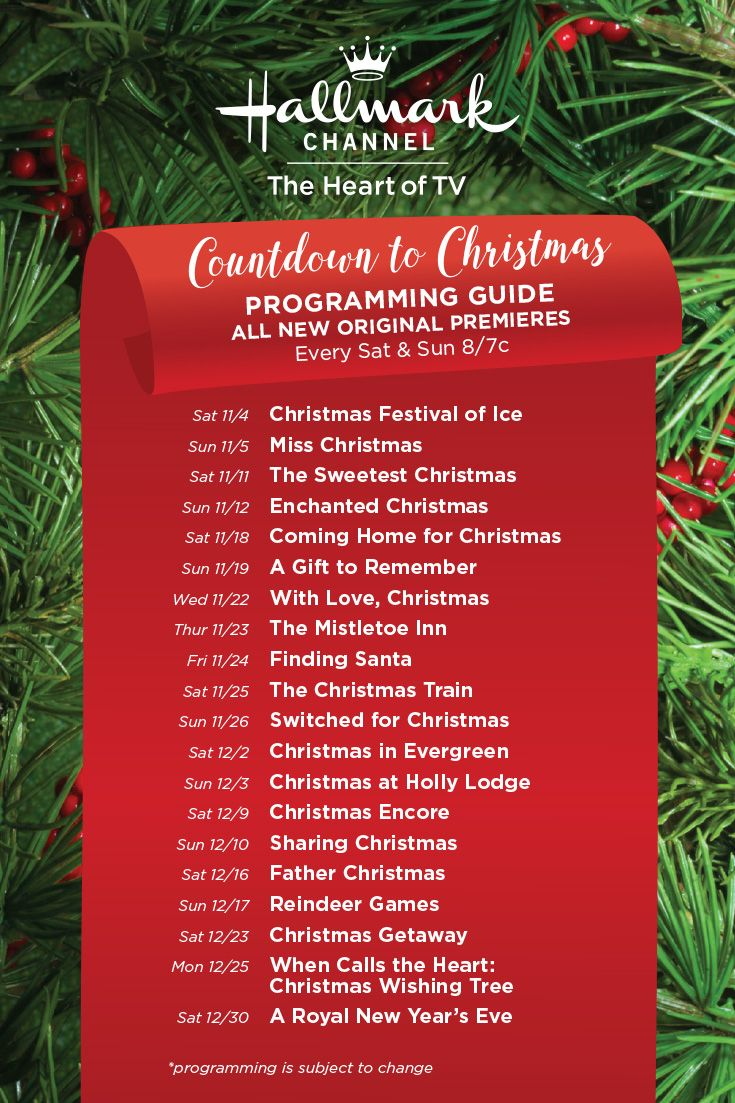 2017 Christmas Has Arrived On Hallmark Channel With More Original Movie Premieres Than Ever Christmas Countdown Hallmark Christmas Hallmark Christmas Movies