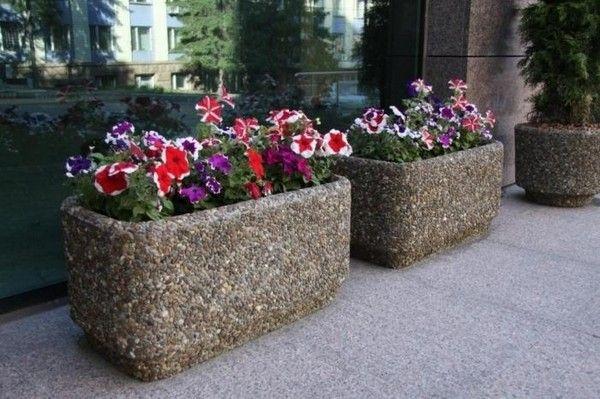 Вазоны для цветов из бетона уличные своими руками