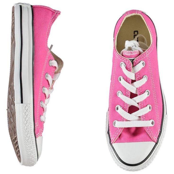Roze lage canvas Allstars gympen van Converse | Olliewood