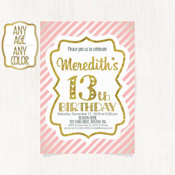 13th birthday invitation Thirteenth birthday party by CoolStudio