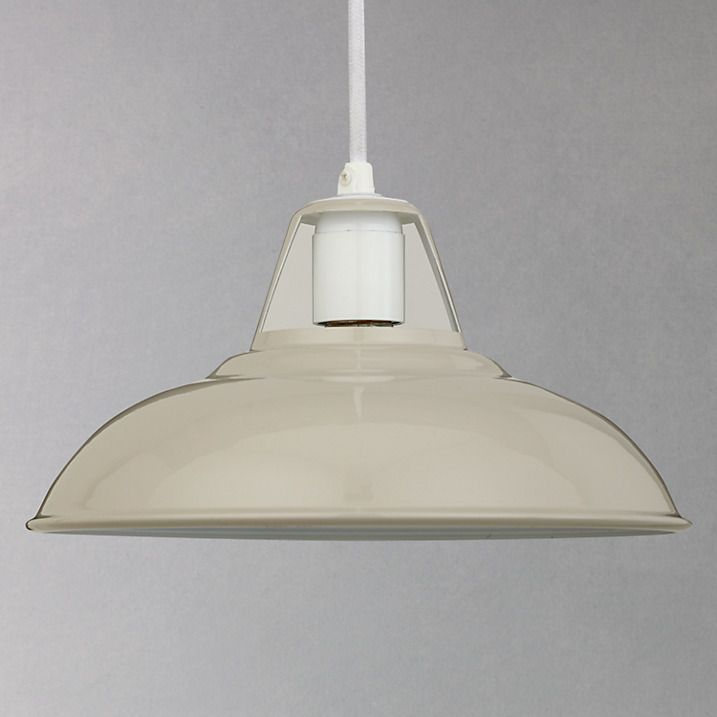 Buy John Lewis Croft Collection Easy-to-fit Campbell Ceiling Shade, Stone Online at johnlewis.com