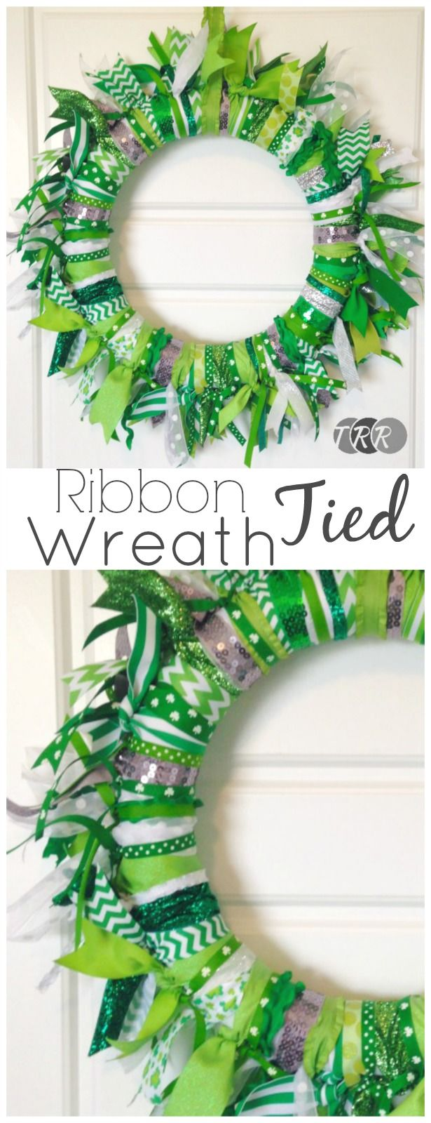 Ribbon Tied Wreath - The Ribbon Retreat Blog