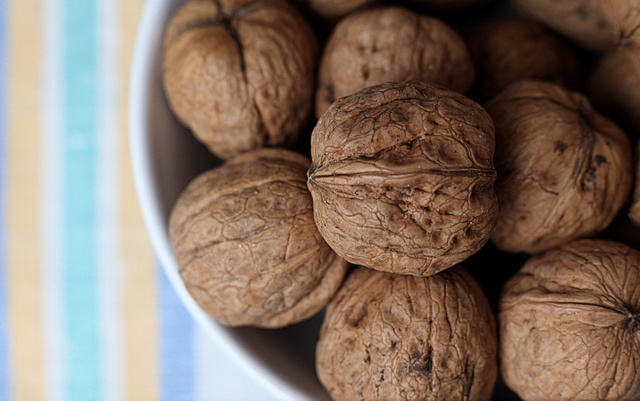 A bowl full of walnuts. by MaranzaMax, via Flickr
