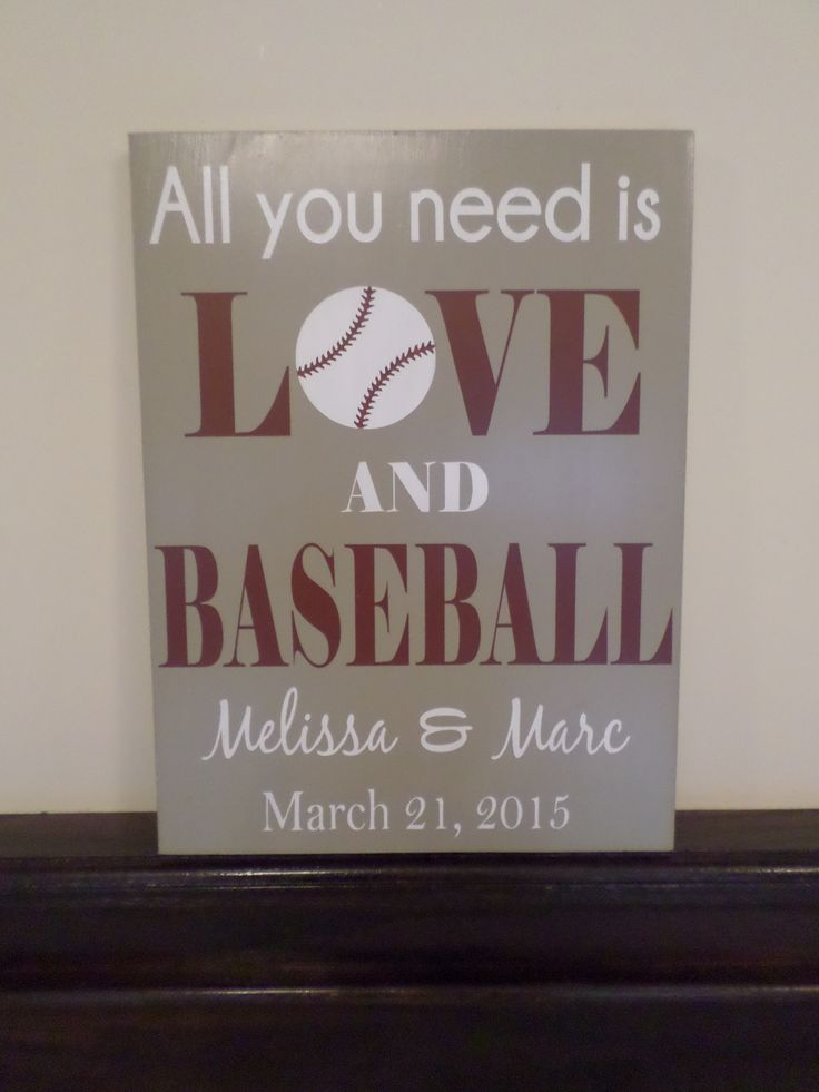 Love & Baseball Wedding Sign