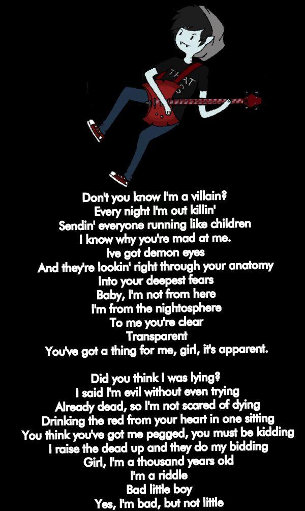 Marshall Lee (Bad little Boy) GRAVYARD RAP song: