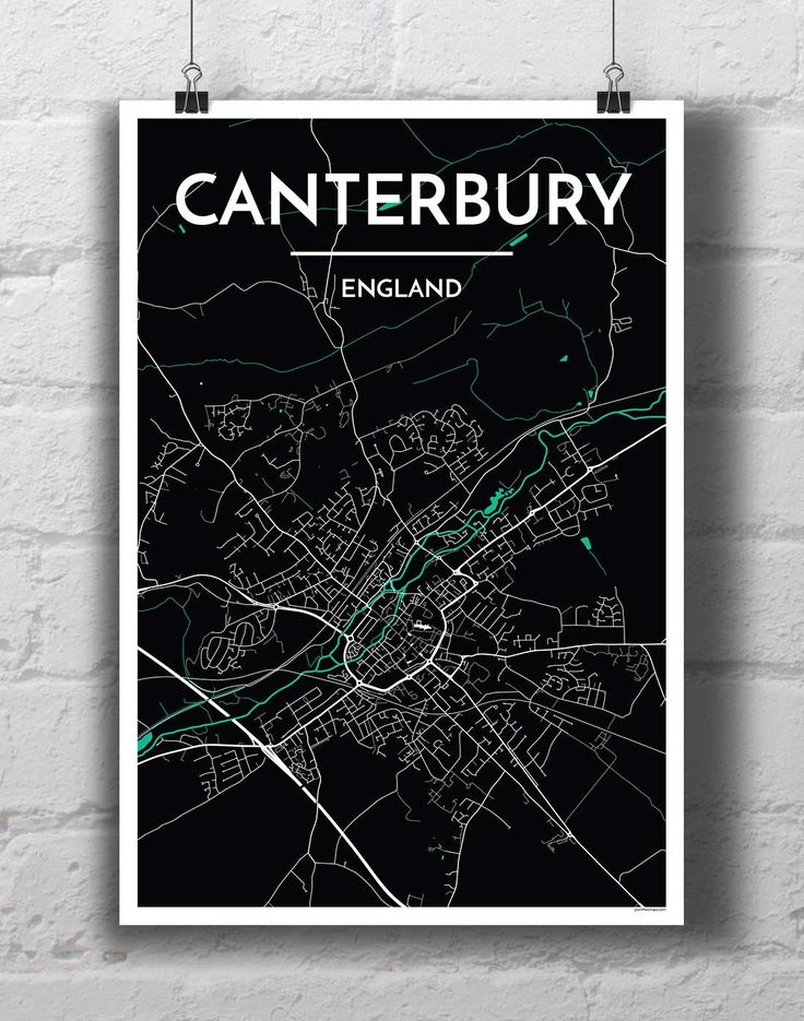 Canterbury City Map