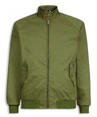 Ben Sherman Harrington Jacket in khaki green
