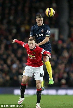 Schneiderlin beats Wayne Rooney in aerial duels on Sunday afternoon