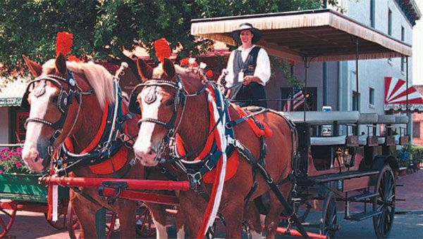 Plantation Carriage Company located in Savannah Georgia.  Carriage rides through historic Savannah.