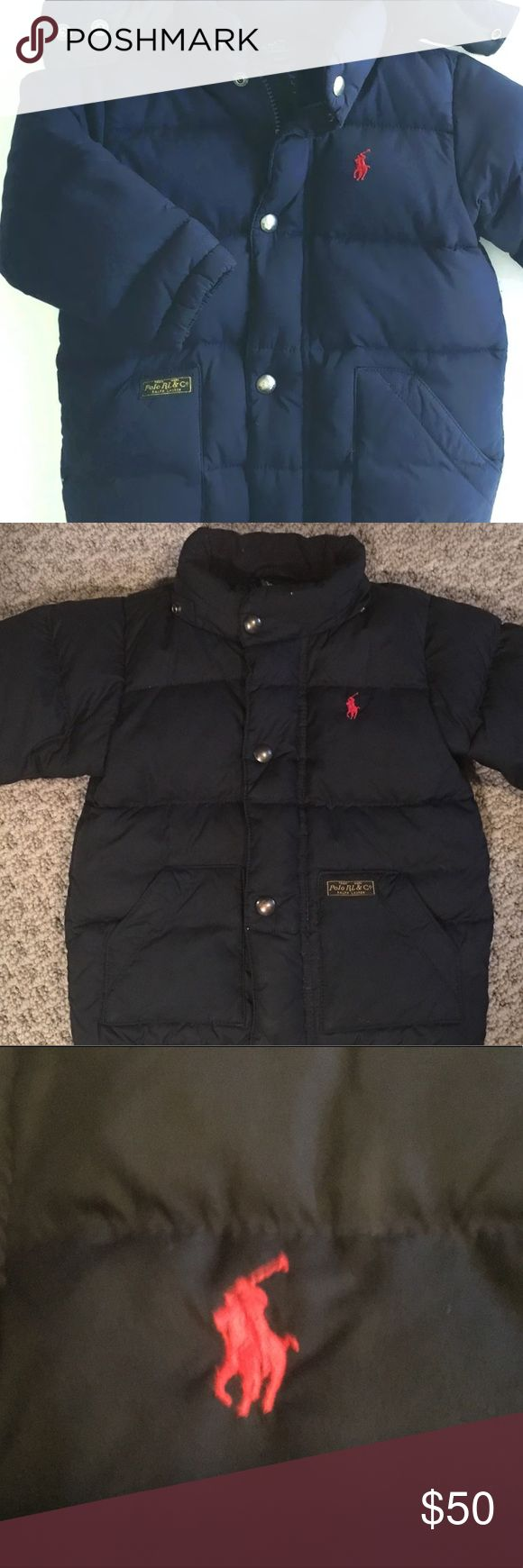 Ralph Lauren Polo Winter Jacket 18 months Navy blue elmwood puffer winter jacket excellent preowned condition no stains tears hood not included Polo by Ralph Lauren Jackets & Coats Puffers