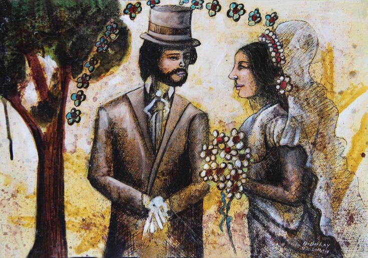 Emma en su boda con Charles Bovary - Angelo Dulay
