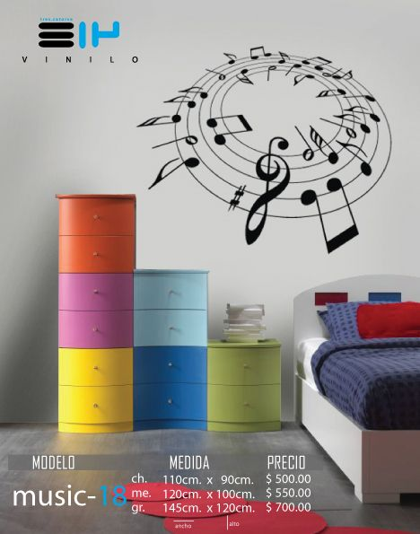 Vinilo 3 14 vinilos decorativos notas musicales for Vinilos decorativos notas musicales