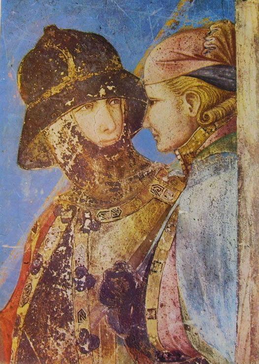 """Pietro Lorenzetti - Crocifissione (particolare) 1318 ca., Assisi, basilica S. Francesco, transetto della chiesa inferiore, ciclo di affreschi con """"Storie della Passione"""""""