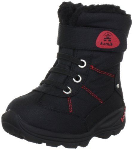 Kamik Snowman Boot (Toddler) Kamik. $45.15. Bungee laces with adjustable top velcro strap. Waterproof DriDefence bootie construction. Rubber sole. Fixed foam and fleece insulation. nylon. Waterproof icebug nylon upper. Minus 10f temperature rated. Made in China