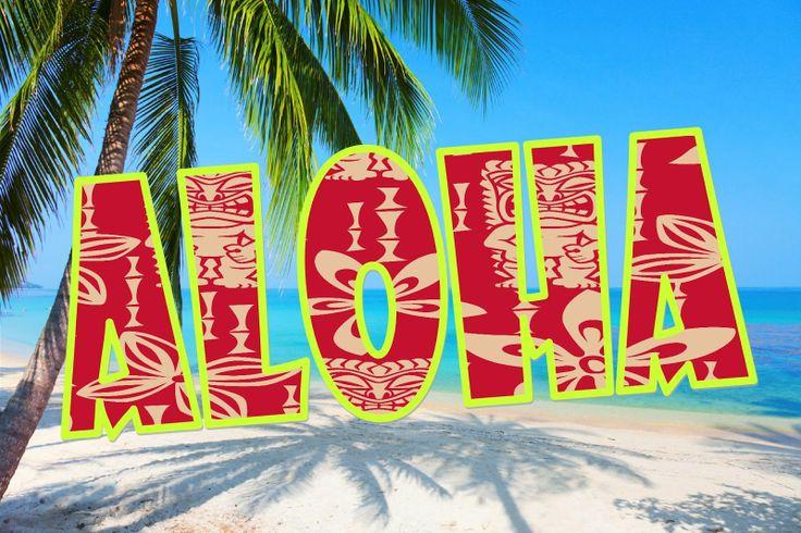 Открытка для гавайской вечеринки, юбилеем лет женщине