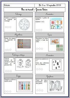 plan de travail GS